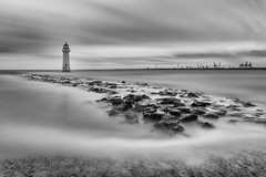 Mistify me! (Paul-Farrell) Tags: longexposure lighthouse canon mono rocks 5d wirral newbrighton merseyside mkiii ndfilter perchrock 15stop