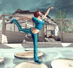 Nya's Sport *Esto es Azul, Namaste - This is Blue, Namaste* (Xhunaxhi Xuisse) Tags: blue sport azul mesh aire libre nyas