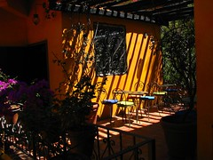 Sillas Coloridas (Marcia Portess-Thanks for a million+ views.) Tags: mexico cafe shadows chairs multicoloured sombra sunshade seats puertovallarta colourful lightshadow asientos laterraza tableschairs luzysombra ontheterrace mesasysillas colourfulchairs marciaportess marciaaportess sillascoloridas