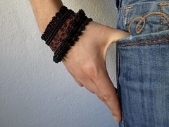 beaded crochet bracelet with sienna embroidered base and black glass seed bead decorations by irregularexpressions (irregular expressions) Tags: jewelry bracelet beaded blacklace seedbeads beadcrochet delicabeads crochetbracelet beadedcrochet beadedbracelet beadedcuff blackbracelet beadedlace irregularexpressions crochetcuff statementbracelet statementjewelry beadedcrochetcuff romanticbracelet blackcrochetlace beadedcrochetbracelet