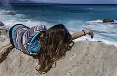 Blue dream (Marysol_) Tags: travel sea holiday beach girl clouds trekking relax landscape paradise nuvole mare sardinia view bluesky panoramica viaggi spiaggia vacanza vento panorami bech visuale visitsardegna