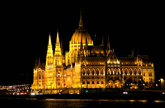 Hungarian parliament by night (caterina.begliorgio) Tags: street travel building travelling nature water skyline architecture night river walking photography lights travels europe hungary walk budapest edificio parliament nights luci wandering notte wander wanderer hungarian marvellous danubio canonphotos allaperto architecturelovers