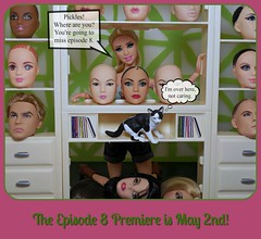 Episode 8 Coming Soon! (Doll Affinity) Tags: cats cat toy photography funny comedy doll dolls lol ooak humor barbie scene odd story entertainment heads 16 custom stories drama articulated episode affinity reroot
