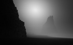Serenade (vulture labs) Tags: bw seascape fog iceland long exposure moody nd atmospheric firecrest bwlongexposure vulturelabs