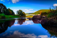 Bigsweir Bridge (G.B.Photography) Tags: bridge blue panorama reflection beautiful beauty southwales wales reflections skyscape landscape walk grenn skay outdor landscapeseascape bigsweir sescape grazynaphotography