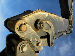 Tractor Raptor (Mikirk) Tags: ca street usa house macro art home scale work landscape photography construction track view labor neighborhood micro frame land vista fractal suburb local southerncalifornia sprawl drive contractor fontana development tract photostudy inlandempire newdevelopment newhomes meritagehomes homebuilder northfontana sierracrest suburbanfrontier
