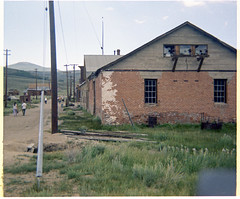 Bodie, CA - Pacific Power Co. Building - 1970 (tonopah06) Tags: california ca kodak ghosttown bodie 1970 substation instamatic hydroelectric miningcamp monocounty pacificpowercompany