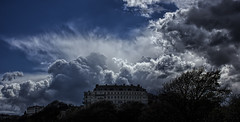 Falling skies (Anthony Goodall) Tags: storm building rain weather landscape hotel dramatic april scarborough