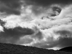 Contrasty Clouds (spodzone) Tags: light sky blackandwhite sunlight art nature monochrome lines clouds composition lens landscape photography scotland raw moody dynamic emotion unitedkingdom horizon perthshire dramatic places appreciation equipment filter zen vista balance moment stark awe striking simple toned contrasts imposing turbulence lightanddark elegance turmoil transience gbr sumptuous digikam skyearth shapeandform cloudappreciation rawconversion rawtherapee naturehappens digitalred pathofcondie abstractqualities olympus1260mmf28