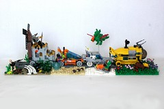 Tourist Train (soccersnyderi) Tags: castle classic train movie landscape model underwater lego space tourist medieval arctic scifi moc