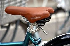 DSC_4871 (Alireza PourNaghshband) Tags: abstract art bicycle copper saddle lightbrown closedup