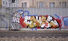 Cause (Herbalizer) Tags: vienna wien wall graffiti austria sterreich wand linie line wiener bb cause trackside linien