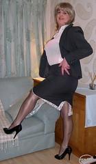 1 All our laceterdays (janegeetgirl2) Tags: red black stockings pencil vintage court office tv high glamour shoes bra chiffon mini skirt crossdressing tgirl suit transvestite heels satin crossdresser ts stilettos fully nylons garters fashioned seams