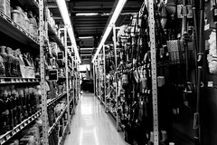 hardware aisle (Pye42) Tags: seattle blackwhite washington hardwarestore unitedstates aisle westseattle shelves truevaluehardware alaskajunction