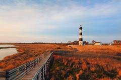 Bodie Island Lighthouse Sunrise (Matt Ha's Photography) Tags: blue sky lighthouse sunrise island warm north carolina bodie feeling outer banks