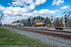 UP 7809 on NS 206, Berea, 2016-04-12 (redheadedrobbie1) Tags: railroad up diesel ns unionpacific locomotive ge railfan generalelectric norfolksouthern berea intermodal es44ac