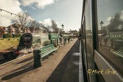 Steam Locomotive - Manston - 34070 - 3 (Mark Gray Photos) Tags: train railway loco steam locomotive swanage