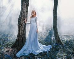 (Adam Bird Photography) Tags: blue light fashion fairytale bells forest model woods princess smoke surreal story fantasy rays conceptual narrative adambird adambirdphotography