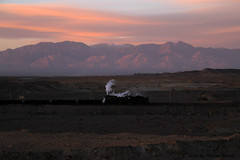 I_B_IMG_6430 (florian_grupp) Tags: china railroad sunset silhouette train landscape asia mine desert muslim railway steam xinjiang mikado locomotive coal js steamlocomotive 282 opencastmine sandaoling