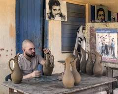 The art of pottery at Azariel Santander Alcantara studios (Jodi Newell) Tags: canon ceramics crafts havana cuba arts clay trinidad cheguevara lahabana jodinewell jodisjourneys azarielsantanderalcantara santanderpottery jodisjourneysphotosgmailcom