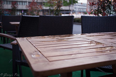 366-115 (bine77) Tags: city urban nature wet rain canon table stadt pancake 24mm tisch regen projekt nass 366 eos100d