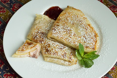 crpes with PRiMO (rcakewalk) Tags: breakfast dessert primo ricotta preserves crpes