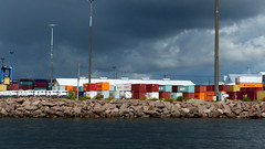 Mussalo harbour (Kotka, 20150731) (RainoL) Tags: sea summer sky cloud finland geotagged harbor harbour july container fin satama kotka 2015 mussalo kymenlaakso 201507 mussalonsatama mussaloharbour 20150731 geo:lat=6041969990 geo:lon=2692594528