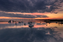 Afterglow Colours (Sunset Snapper) Tags: uk sunset colour clouds reflections boats still nikon dramatic peaceful hampshire calm filter lee nd april serene yachts grad southcoast tranquil 2016 2470mm langstoneharbour d810 sunsetsnapper afterglowcolours