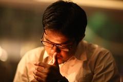 The 'Good Boy' Smoker (N A Y E E M) Tags: light night hotel raw availablelight cigarette smoke courtyard lobby roni unposed untouched bangladesh unedited chittagong sooc radissonblu musabbir