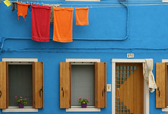 Supplementary Colors (tamstth) Tags: street door trip travel blue venice windows red sea italy orange color window colors canon photo europe photoraphy venezia burano 492 supplementary