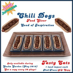 [LJ] Tasty Eats - Chili Dogs - Seed of Inspiration (Tala Laval) Tags: food dog hot garden french corn key chili dino fast rings fries condiments soda onion nuggets gacha