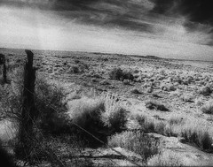NewMexico1997-315 (sara97) Tags: blackandwhite bw newmexico analog blackwhite 1997 analogphotography nikonf3 kodakhie infraredfilm photobysaraannefinke chacoculturhistoricpark kodakhighspeedinfraredfimm
