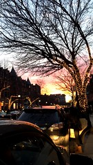 Sunset on Newbury (oliviaaa_c) Tags: city sunset boston night newburystreet