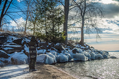 Ice Covered Rocks (Evan's Life Through The Lens) Tags: life camera school winter friends snow cinema cold color college glass beautiful burlington 35mm lens fun vermont sony wide cine adventure a7s