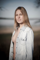 Sylwia (Random Nudes Creator) Tags: light woman girl beauty zeiss nude outdoors nikon carl topless blonde available planar 8514 d700
