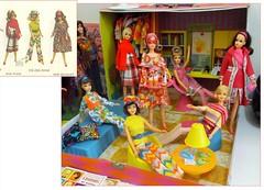 NEW FASHIONS! (modBarbielover) Tags: casey 1971 mod doll becky 1967 1970 tnt francie twiggy