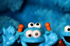 Blue Monsters (redmaiko) Tags: blue toys sesamestreet cookiemonster figures