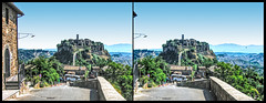 the town that's dying (Bruno Zaffoni) Tags: italy stereophotography 3d italia viterbo italie civita stereoscopy bagnoregio crossview