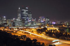 [Perth] from Kings Park (Super science lazy little turtle) Tags: australia perth nightview lightrail kingspark