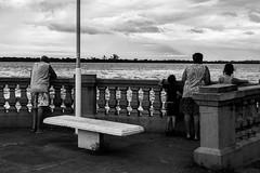 (martinnarrua) Tags: bw white storm black byn blanco argentina clouds ro river nikon cloudy negro bn nubes tormenta entre nublado ros amateur coln monocromtico nikond3100