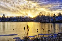 eIMG_8412H (kylmed) Tags: winter sunset red ice creek golden pond dusk cattails pancake gloaming redcreek