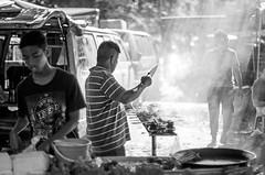 street candid (leonlee28) Tags: street people food asian outdoor candid manatwork streetphotography nikkor satay foodstall lightrays lenstest nikonlens primelens 50mmf12 nikon50mm nikkor50mmf12ais ipohmali fixlens leonlee28 leonlee memorylaneipoh pasarkaratipoh nikkoraislens lokenipoh
