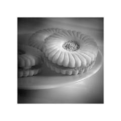 P1030707_1_P_W (glenn0004) Tags: blackandwhite bw stilllife white square mono holga lomo lofi 11 panasonic biscuit teatime 43 csc boarder gf1 custardcream jammydodger hlwplg
