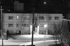 speedy turn (theharv58) Tags: nightphotography nightshots cityscene nighttraffic m42lens manuallens canon60d canoneos60d asahiopticalcompany fotodioxprolensadapterm42tocanoneos fotodioxprom42toeosadapter asahipentaxsupertakumar135mmf35lens