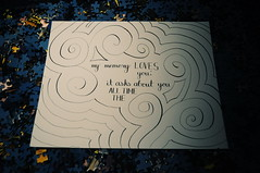My Memory's Obsession (alexisong0616) Tags: love pen handwriting typography design graphicdesign graphic quote brain memory type swirls calligraphy cursive flourish handlettering handdrawn calligraphypen