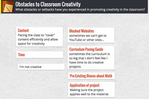 Obstacles to Classroom Creativity by Wesley Fryer, on Flickr