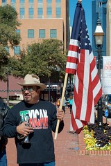 Texican (dangr.dave) Tags: mainstreet texas tx political politics rally trumpet americanflag conventioncenter trump fortworth texican trumprally