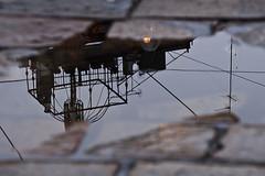 reversed roof-covered terrace - Novembre 13 095low (luca19632 - Luca Cortese) Tags: urban italy puddle italia milano gazebo reversed riflessi pioggia sera riflesso pozza pozzanghera ferrobattuto lastricato corsodiportaromana altana viamolinodellearmi