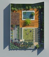 Minimalist Garden. Plan view