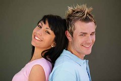 Young couple stood back to back (memory123451234) Tags: two people woman white man male love closeup female pose togetherness back clothing couple pretty view background side profile young handsome posing romance clothes heads attractive romantic casual youthful heterosexual relaxed turning touching partners caucasian stood